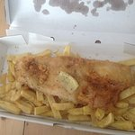 Apparently a large fish and large chips