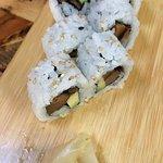 Avocado shiitake roll (2 pieces already devoured)