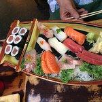 Sushi sashimi combo.
