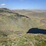 Small Water (tarn) on Mardale Ill Bell just below Nan Bield pass taken from Harter Fell.