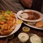 Shrimp Po Boy and Bowl of Gumbo