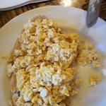 Cold, dry scrambled egg