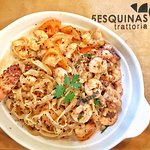 5 Esquinas - seafood pasta ... pasta needed more cooking time & sauce (sugo)
