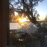 Sunset dinner. Incredible views