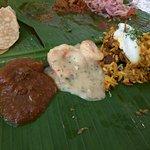 Chicken Curry, Prawn White Curry, Mutton Pulao