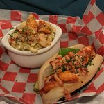 05-04-18 Connecticut Lobster Roll ($19.95) with small Lobster Mac N Cheese ($12).
