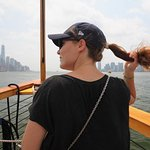 straight down the Hudson
