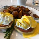 Our hardboiled Eggs Benedict