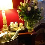 Anniversary roses and champagne