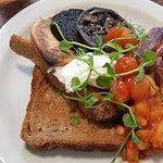 Full Scottish breakfast. Generous servings.