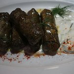 stuffed vine leaves with rice and organic herbs