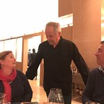 Wolfgang Puck visiting our table
