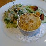 Lobster mac, salad. Deeply satisfying.