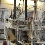 Model of Sultana front of boat.14 foot replica restored by Gene Salecker