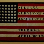 Artifact from the Sultana Museum this flag is from the survivors reunions