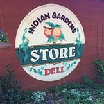 The sign for Indian Gardens