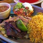 combo fajita plate, beef and chicken