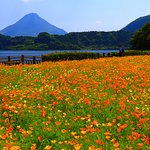 池田湖からの開聞岳1