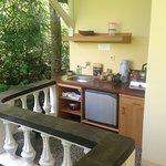 Kitchenette in Garden Chalet