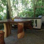 open dining space in Garden Chalet
