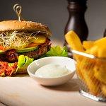 Red Kidney Bean and Mushroom Burger