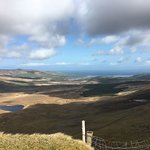 conor pass looking down in brandon bay