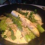 Polenta with asparagus