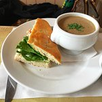 Daily special half sandwich and soup