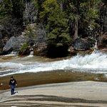 Top of Vernal falls - Merced river