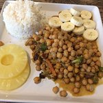 West African Curry with pineapple and bananas