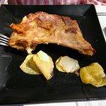 racion de cordero comos segundo plato del menu, No habia carne.