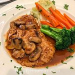 Veal marsala available for lunch.
