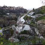 view from Sacromonte on Alhambra