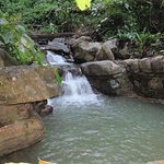 Short hike to the waterfall on the property at Oxygen Jungle Villas
