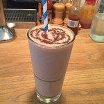 Delicious chocolate salted caramel milkshake