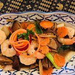 Ginger shrimp meal.