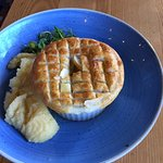 Lamb shank Pie - size was the palm of your hand