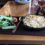 Crab, scallop gratin
