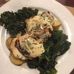Whiskey Chicken with Fingerling Potatoes and Pan Seared Kale