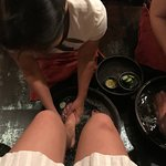 Clean the feet before the SPA
