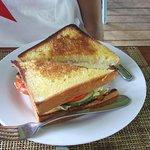 Delicious veggie sandwich