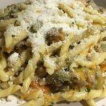 Pasta fresca con Salsiccia e Zucca