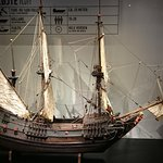 Smuk gammel skibsmodel