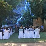 Magical ceremony at the waterfall