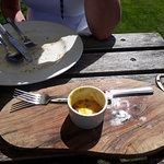 Excellent light lunch in the garden