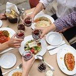 Cheers to good companies, quantity food & wine!