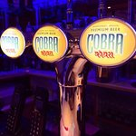 Enjoy a nice cold Cobra on draught or bottle , only at Spice heaven Whitchurch