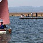 Sailing on the marina.