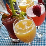 Mimosas and Bloody Marys anytime of the day