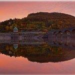 Garreg Ddu Dam in the Elan Valley of Wales